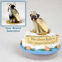 Australian Shepherd Tricolor w/Docked Tail Candle Topper Tiny One Pet Angel Ornament