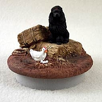 Poodle Black Candle Topper Tiny One