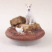Bull Terrier Candle Topper Tiny One