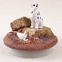 Great Dane Harlequin w/Uncropped Ears Candle Topper Tiny One