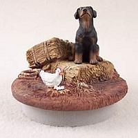Doberman Pinscher Black w/Uncropped Ears Candle Topper Tiny One