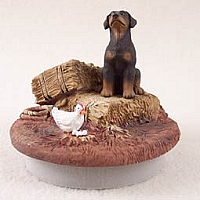 Doberman Pinscher Red w/Uncropped Ears Candle Topper Tiny One