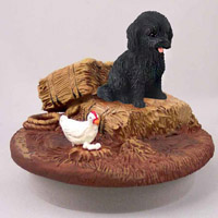 Cockapoo Black Candle Topper Tiny One
