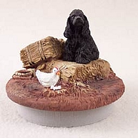 Cocker Spaniel Black Candle Topper Tiny One
