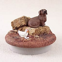 Dachshund Red Candle Topper Tiny One