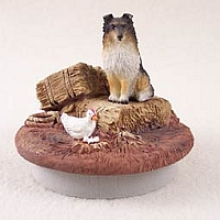 Sheltie Tricolor Candle Topper Tiny One