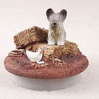 Skye Terrier Candle Topper Tiny One
