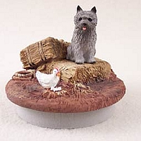 Cairn Terrier Gray Candle Topper Tiny One