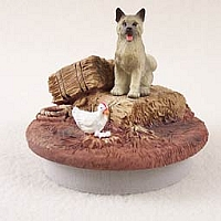 Akita Gray Candle Topper Tiny One