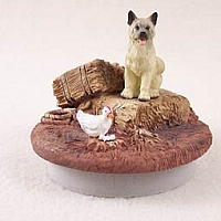 Akita Fawn Candle Topper Tiny One