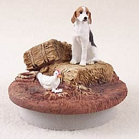 American Fox Hound Candle Topper Tiny One