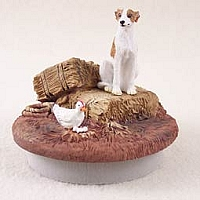 Whippet Brindle & White Candle Topper Tiny One