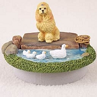 Poodle Apricot Candle Topper Tiny One