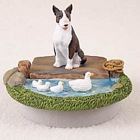 Bull Terrier Brindle Candle Topper Tiny One