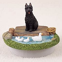 Bouvier des Flandres Candle Topper Tiny One