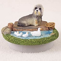 Dandie Dinmont Candle Topper Tiny One