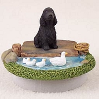 Cocker Spaniel English Black Candle Topper Tiny One