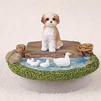 Shih Tzu Tan w/Sport Cut Candle Topper Tiny One
