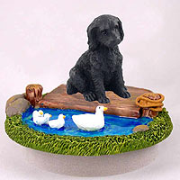 Labradoodle Black Candle Topper Tiny One