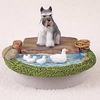 Schnauzer Gray Candle Topper Tiny One