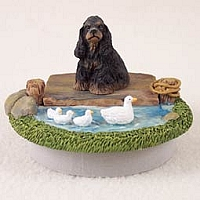 Cocker Spaniel Black & Tan Candle Topper Tiny One