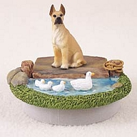 Great Dane Fawn Candle Topper Tiny One