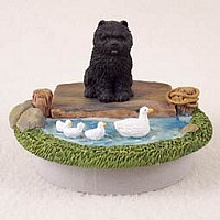 Chow Black Candle Topper Tiny One