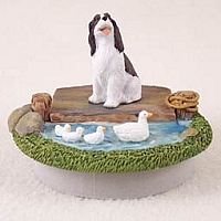 Springer Spaniel Liver & White Candle Topper Tiny One