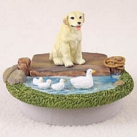 Labrador Retriever Yellow Candle Topper Tiny One
