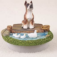 Boxer Brindle Candle Topper Tiny One