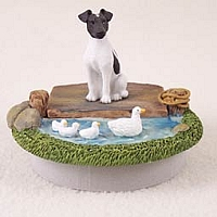 Fox Terrier Black & White Candle Topper Tiny One