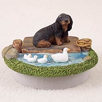 Dachshund Longhaired Black Candle Topper Tiny One