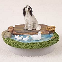 English Setter Belton Blue Candle Topper Tiny One