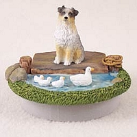 Australian Shepherd Blue w/Docked Tail Candle Topper Tiny One