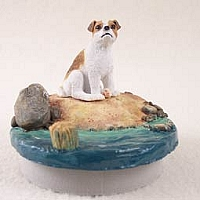 Jack Russell Terrier Brown & White w/Smooth Coat Candle Topper Tiny One