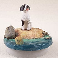 Pointer Black & White Candle Topper Tiny One