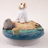 Clumber SpanielCandle Topper Tiny One