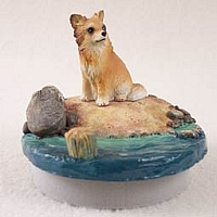 Chihuahua Longhaired Candle Topper Tiny One