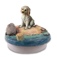Labradoodle Cream Candle Topper Tiny One