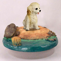 Cockapoo Blond Candle Topper Tiny One