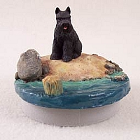 Schnauzer Black Candle Topper Tiny One