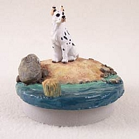 Great Dane Harlequin Candle Topper Tiny One