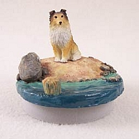 Sheltie Sable Candle Topper Tiny One