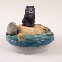 Chow Blue Candle Topper Tiny One
