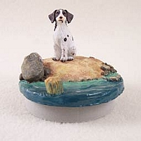 Brittany Liver & White Spaniel Candle Topper Tiny One