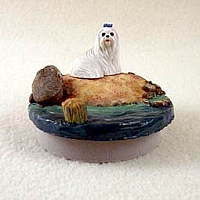 Maltese Candle Topper Tiny One