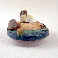 Pekingese Candle Topper Tiny One