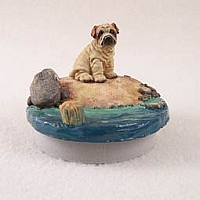 Shar Pei CreamCandle Topper Tiny One