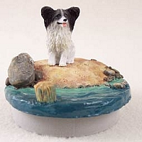 Papillon Black & White Candle Topper Tiny One