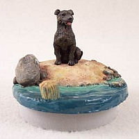 Staffordshire Bull Terrier Brindle Candle Topper Tiny One